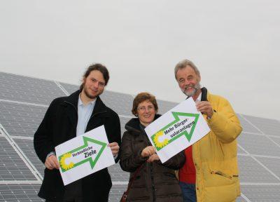 Im Bild v.l.n.r.: Matthi Bolte, Britta Haßelmann, Johannes Bley