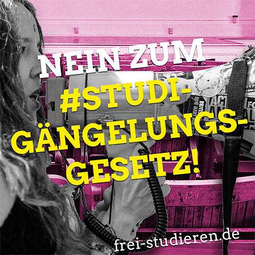 Unser Protest gegen das schwarz-gelbe Hochschulgesetz!